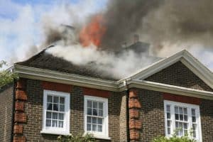 Calgary roof on fire