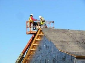 Calgary roofers in bucket
