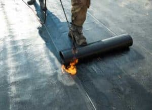 Calgary reliable roofing company flat roof installation