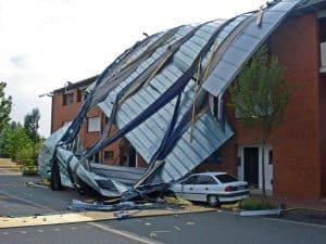 Calgary wind damaged roof