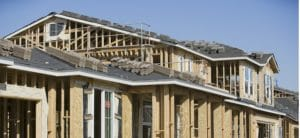 Calgary homes with new roof being installled