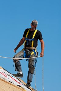Calgary- Roofer at Work