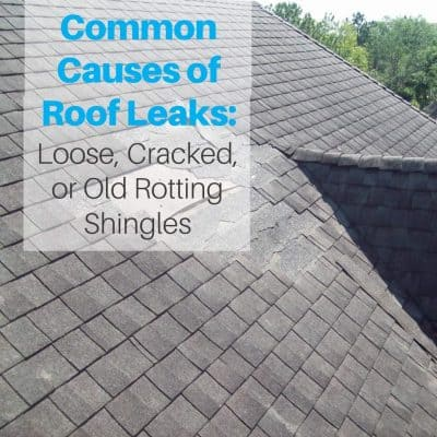 Shingles cause roof leaks
