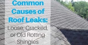 Calgary roof leaks caused by poor shingles